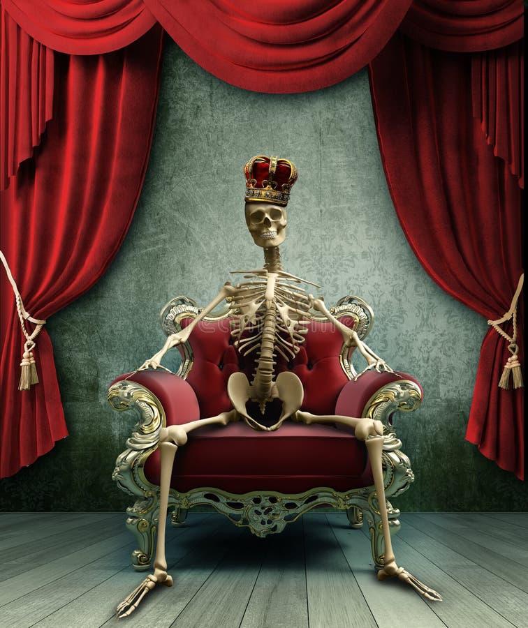 Rei de esqueleto ilustração do vetor