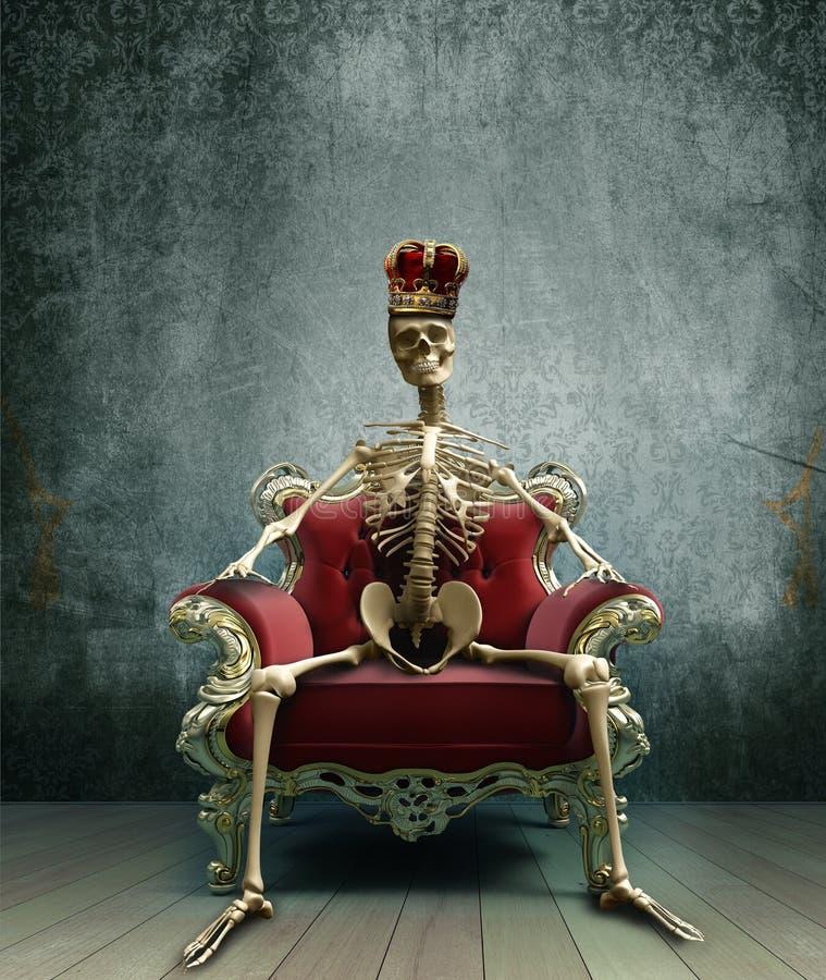 Rei de esqueleto ilustração stock