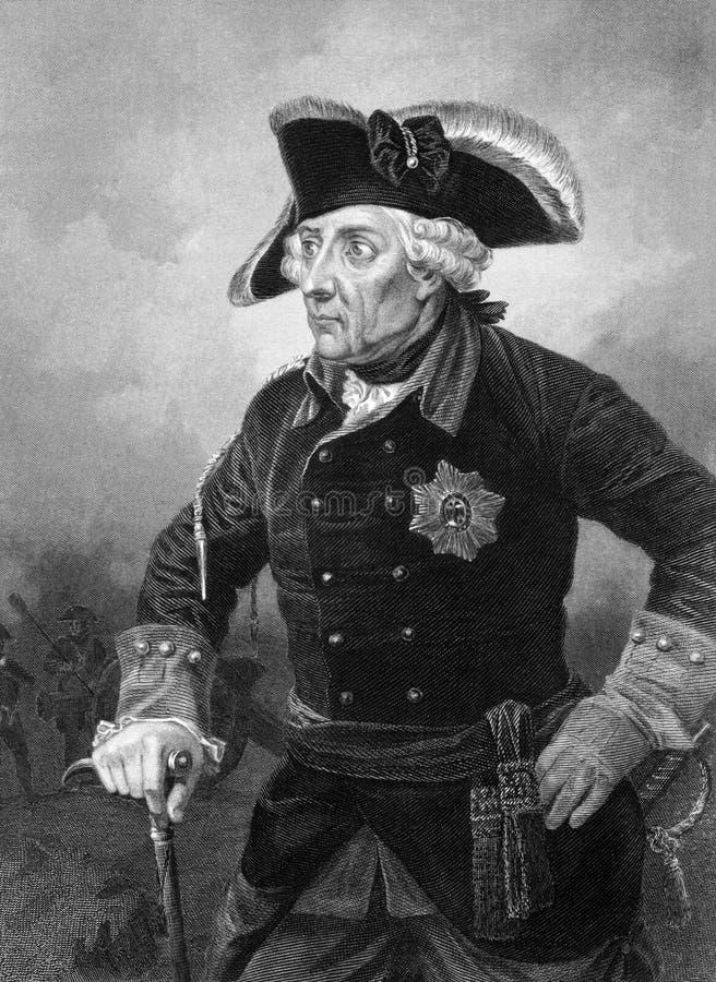 Rei de Frederick II de Prússia foto de stock