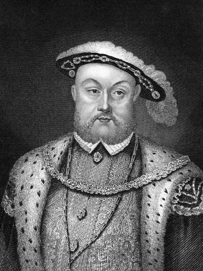 Rei de Henry VIII de Inglaterra fotos de stock
