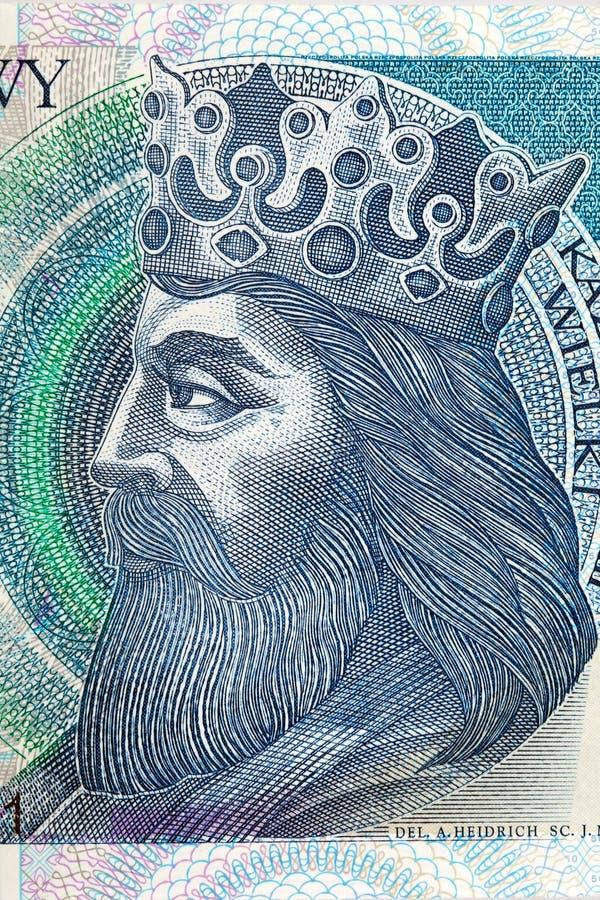 Rei de Kazimierz III Wielki do Polônia fotografia de stock royalty free