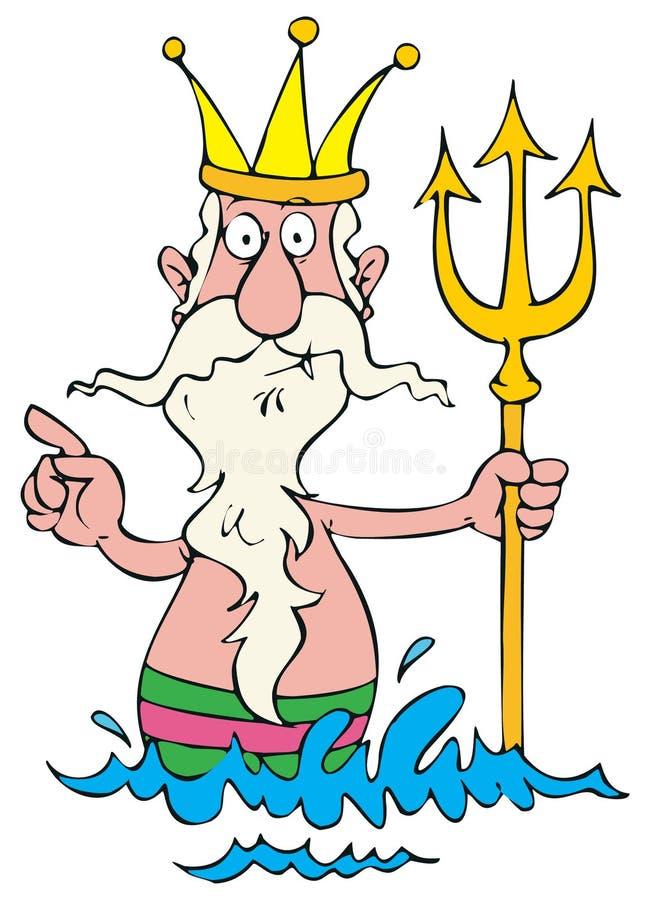 Rei de mar ilustração stock