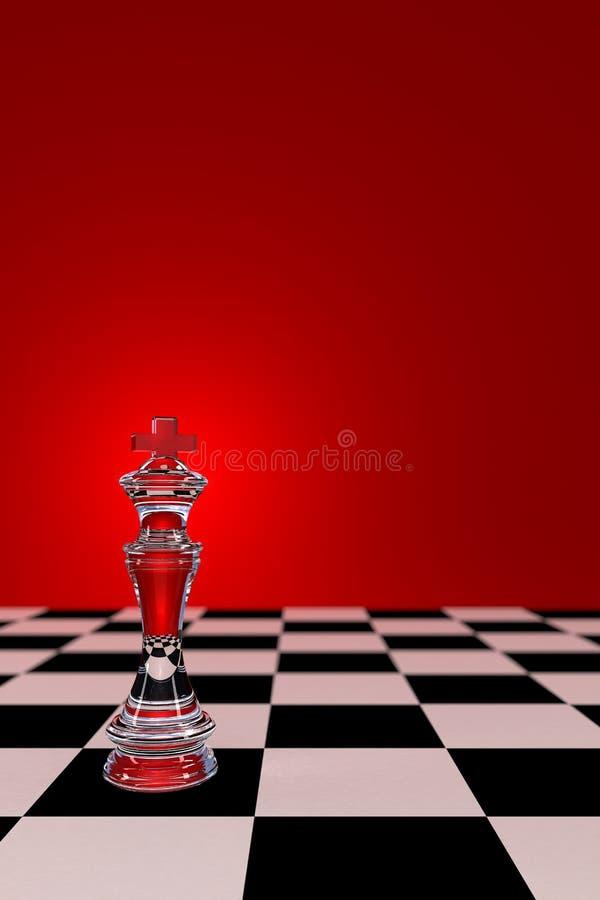 Rei de vidro da xadrez ilustração royalty free
