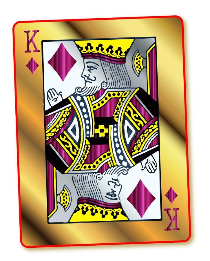 Rei Of Diamonds do ouro ilustração stock