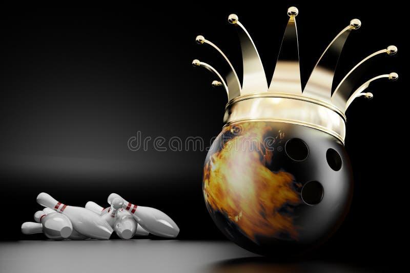 Rei do bowling ilustração do vetor