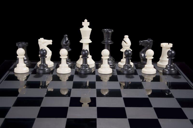 Rei do branco da diversidade da xadrez fotos de stock