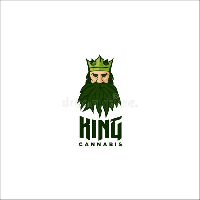 Rei do cannabis ilustração do vetor