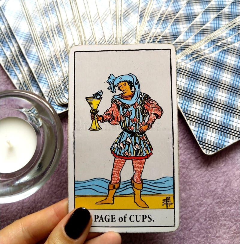 Rei do cartão de tarô dos copos fotos de stock