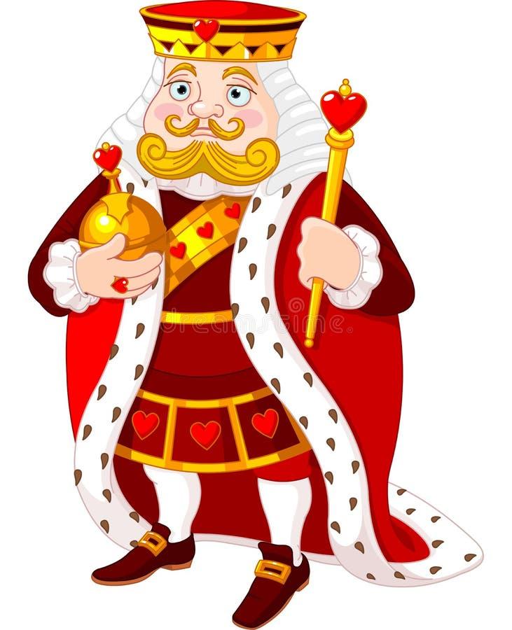 Rei do coração ilustração royalty free