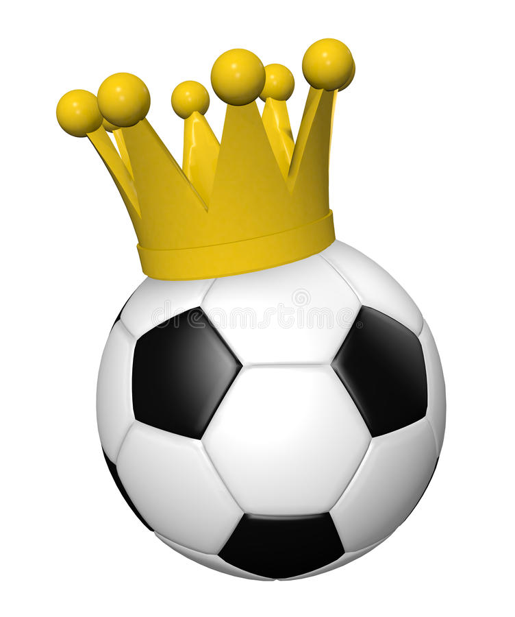 Rei do futebol ilustração do vetor