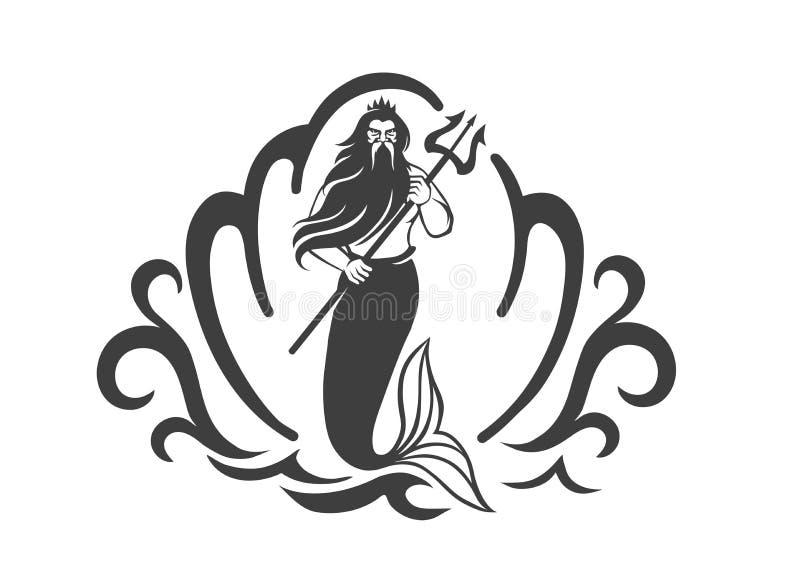 Rei do mar ilustração royalty free