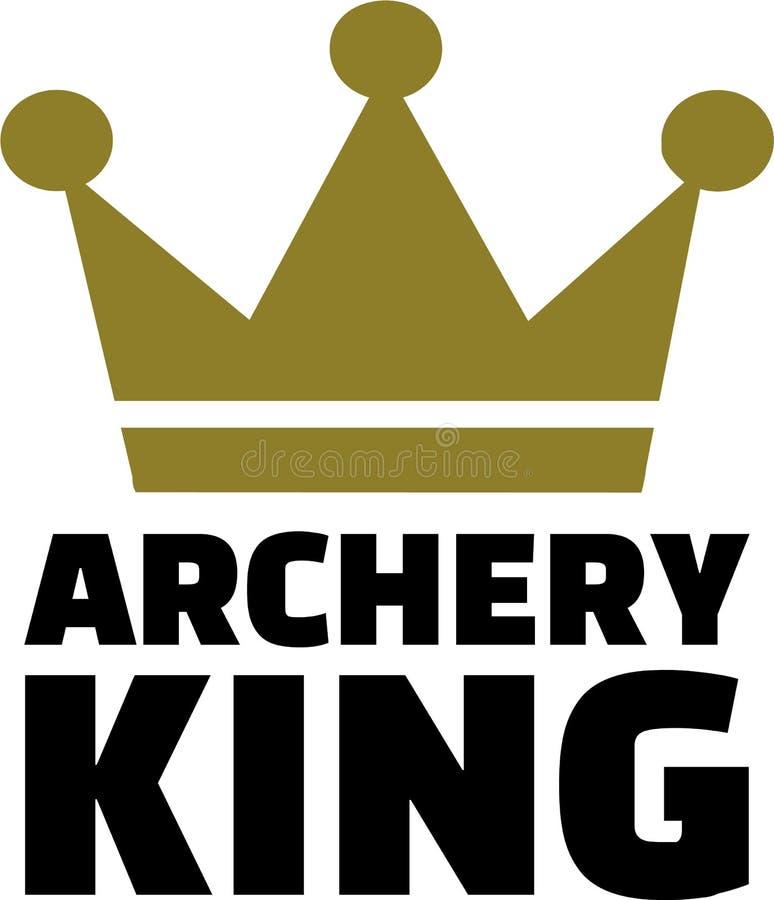 Rei do tiro ao arco ilustração royalty free