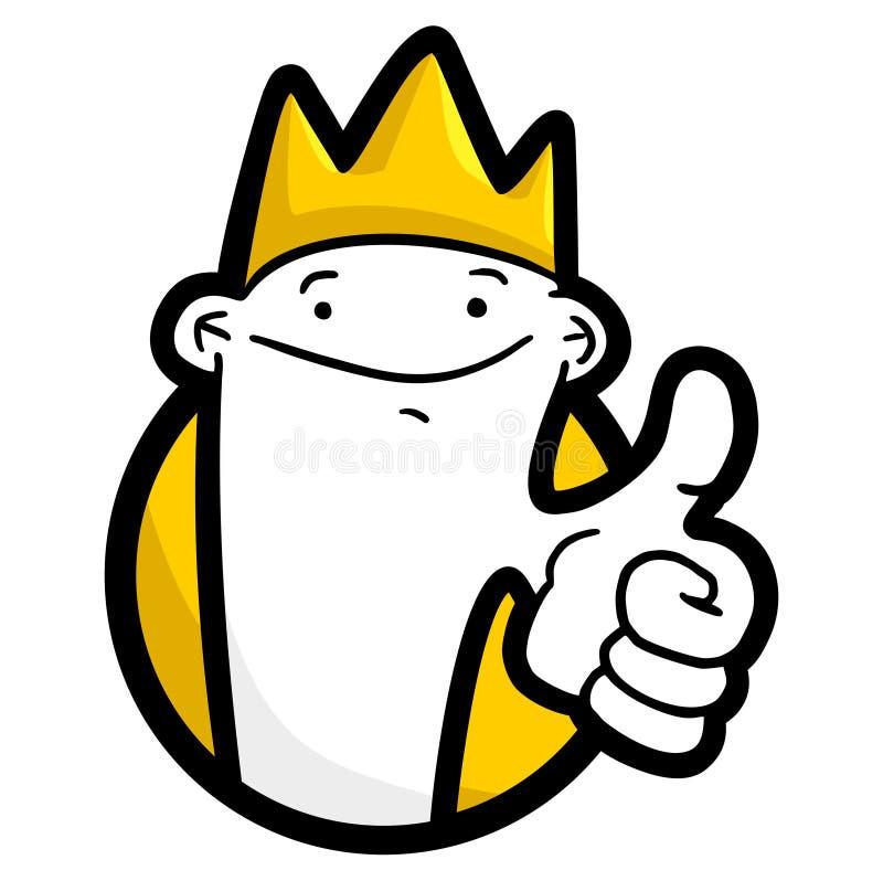 Rei do vencedor ilustração stock