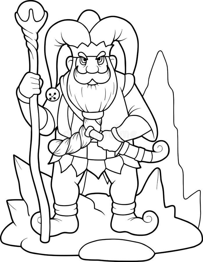 Rei dos anões ilustração royalty free