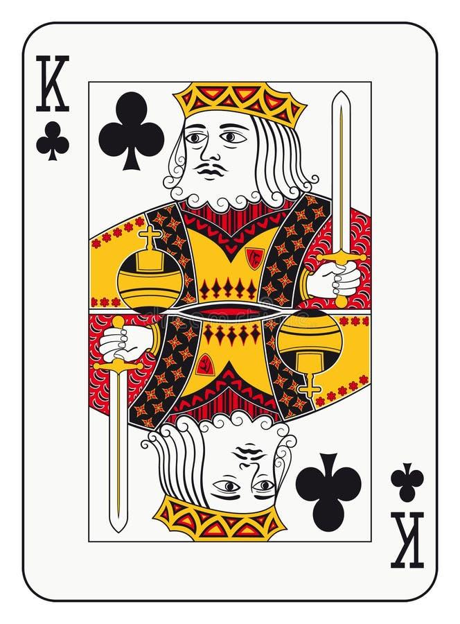 Rei dos clubes ilustração stock