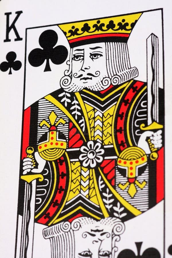 Rei dos clubes imagem de stock royalty free