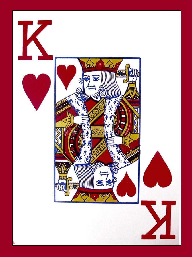 Rei dos corações ilustração stock