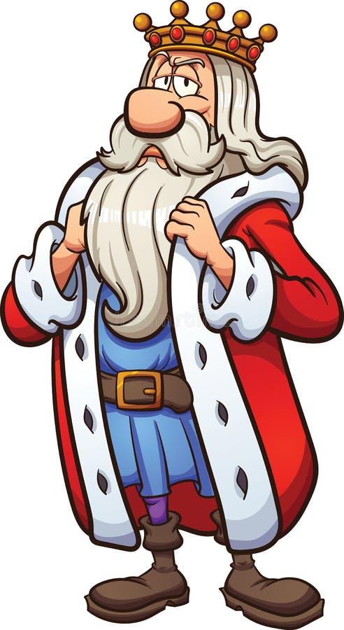 Rei dos desenhos animados ilustração royalty free