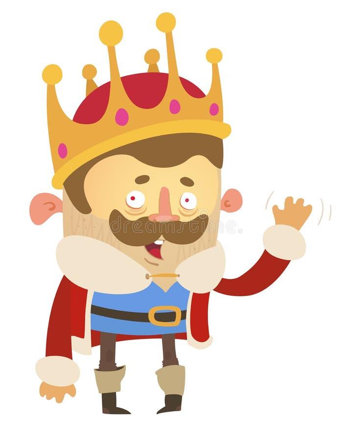 Rei dos desenhos animados ilustração stock