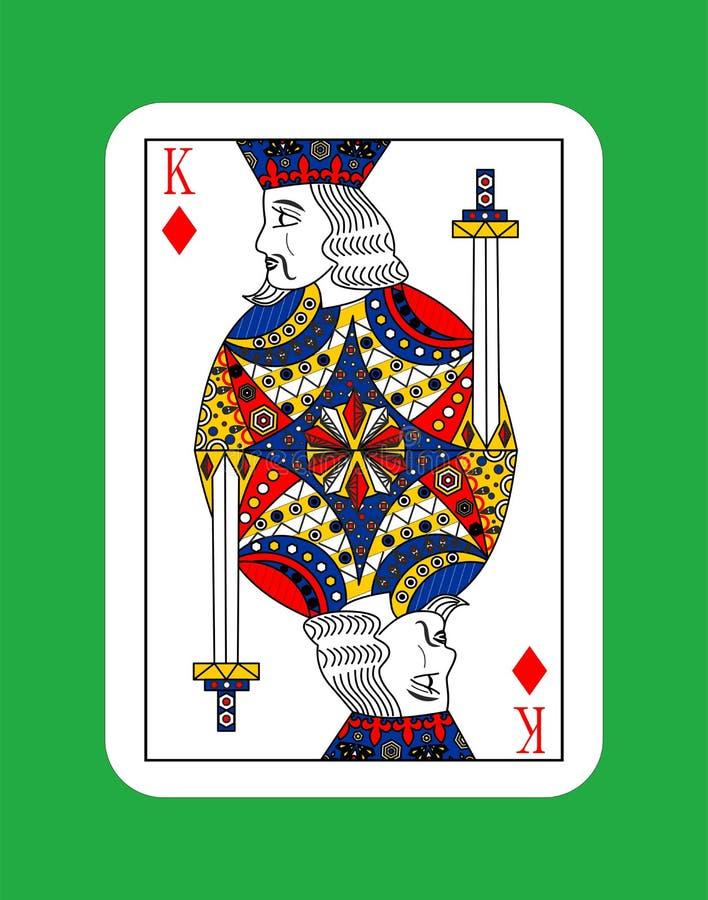 Rei dos diamantes ilustração stock