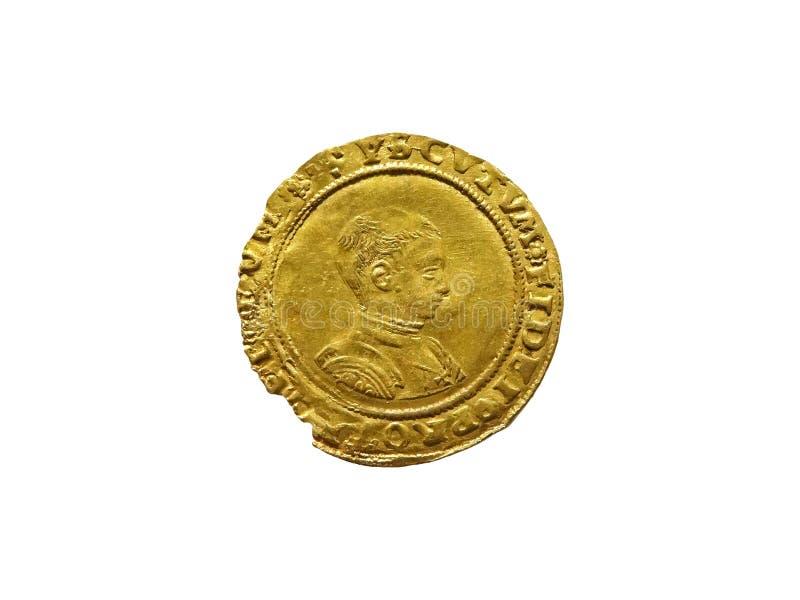 Rei Edward VI 1547 - meia moeda 1553 soberana do ouro imagem de stock