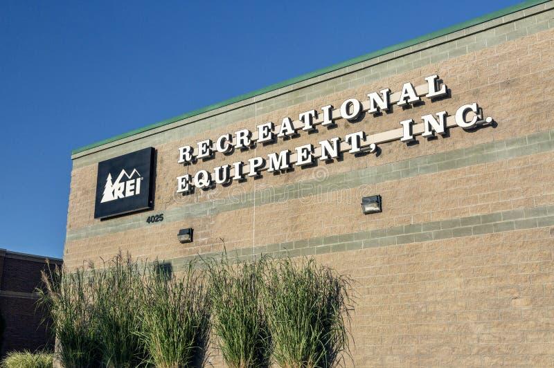 REI - Equipamento recreacional Inc foto de stock royalty free