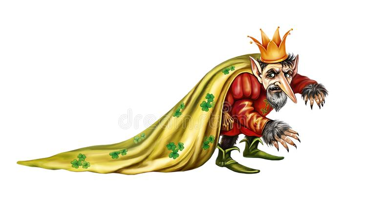 Rei feericamente mau ilustração stock