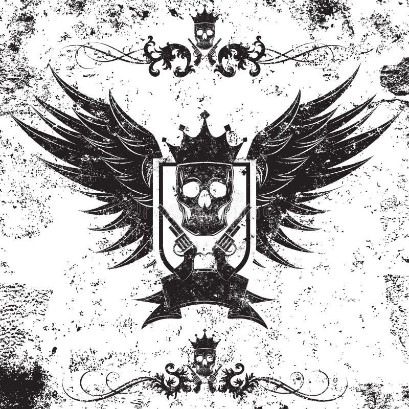 Rei Gangster Insignia ilustração do vetor