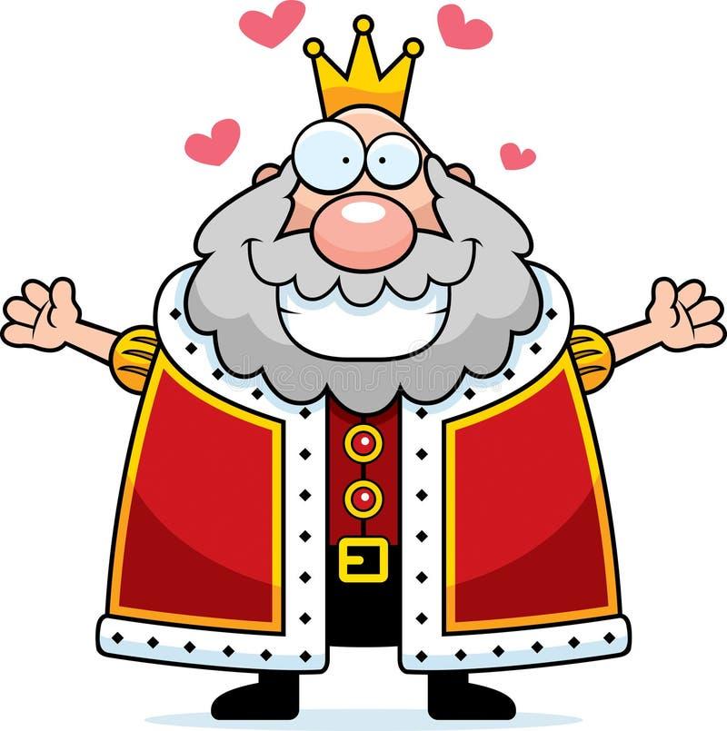 Rei Hug dos desenhos animados ilustração stock