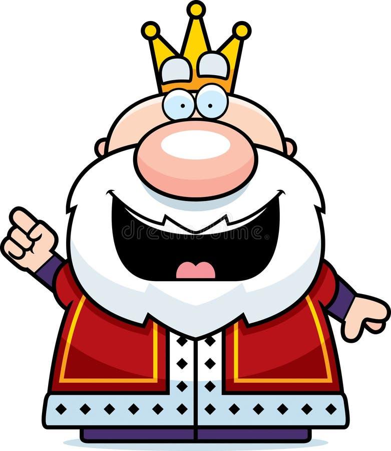 Rei Idea dos desenhos animados ilustração do vetor