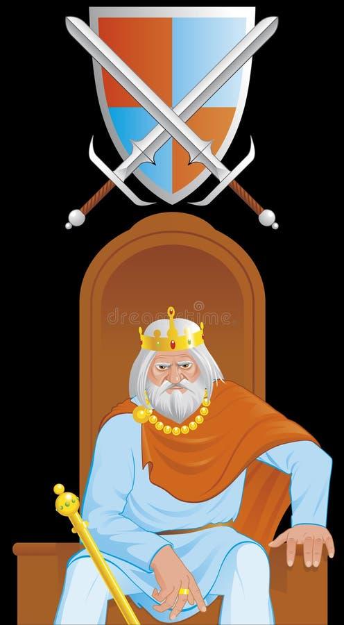 Rei idoso ilustração royalty free