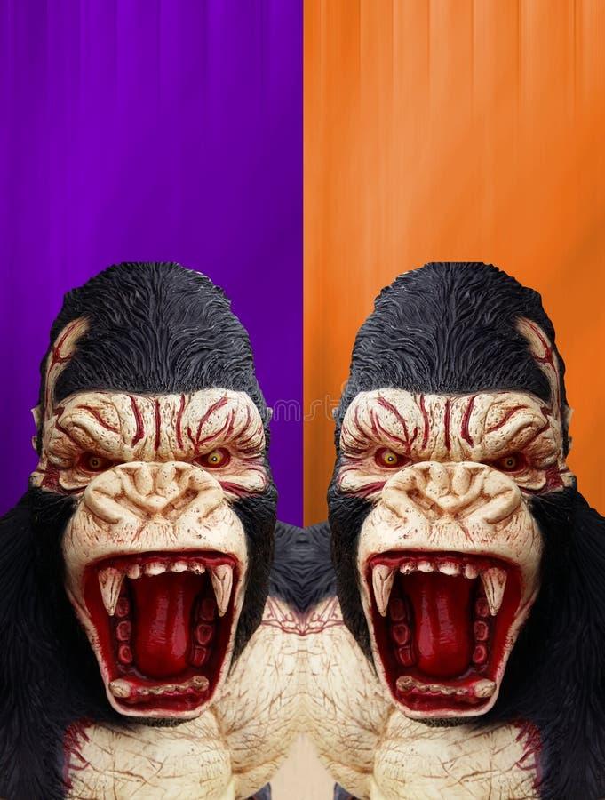 Rei Kong com fundo de Dia das Bruxas imagem de stock royalty free