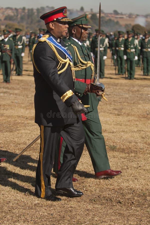 Rei Letsie de H.R.H de Lesotho fotografia de stock