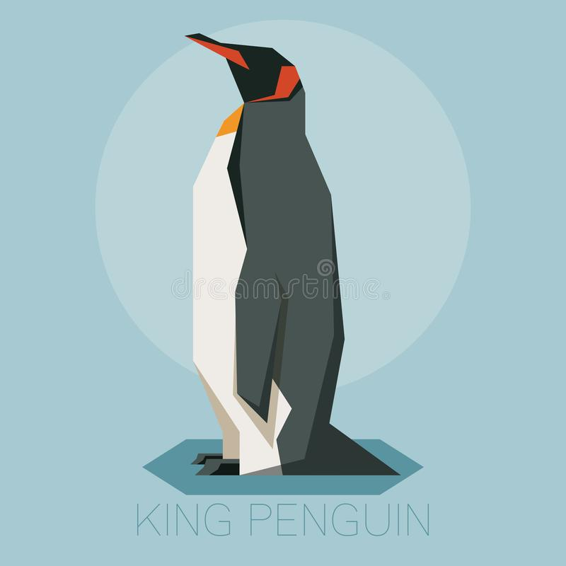 Rei liso Penguin ilustração royalty free