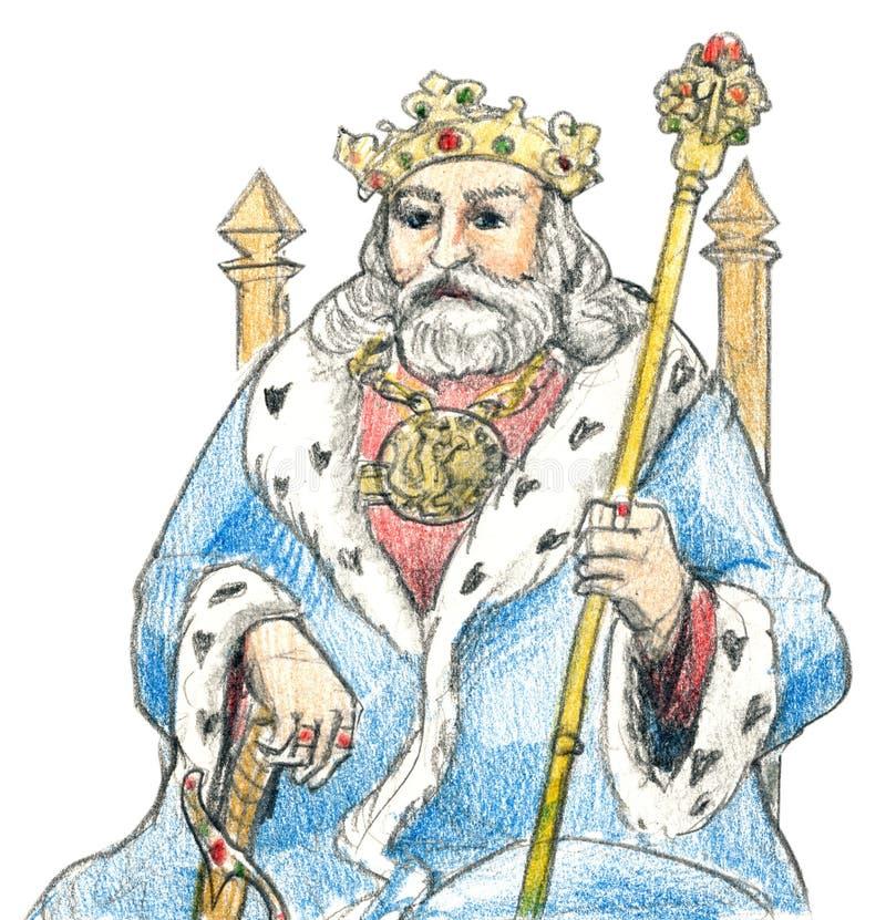 Rei medieval ilustração royalty free