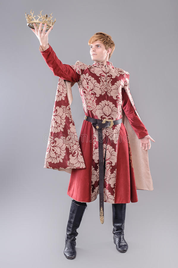 Rei medieval fotografia de stock royalty free