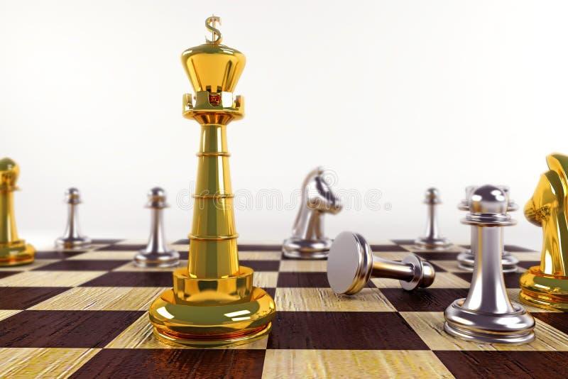 Rei na placa de xadrez ilustração stock