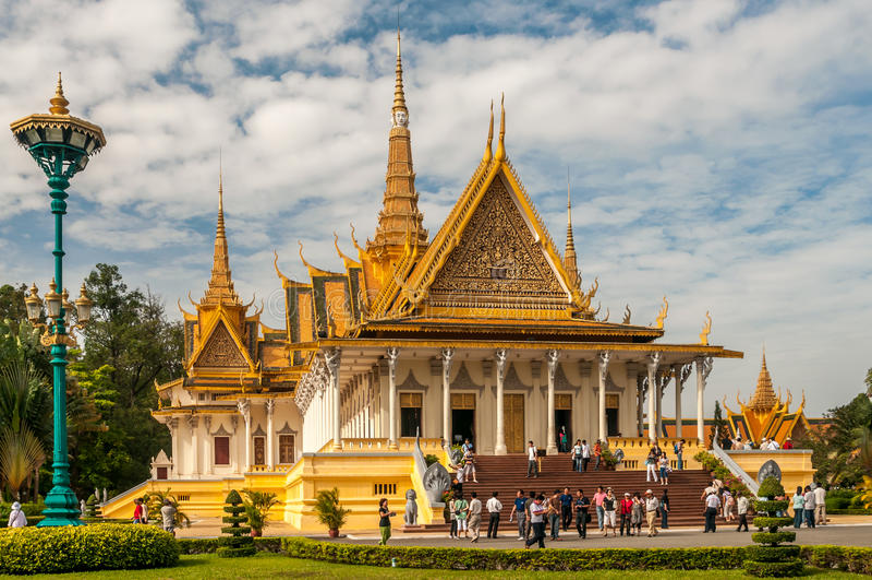 Rei Palace em Phnom Penh fotos de stock royalty free