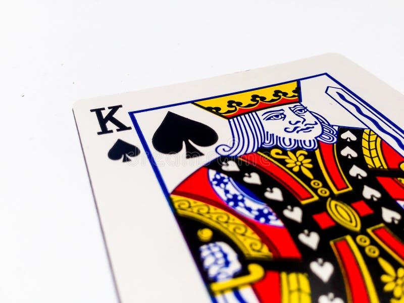 Rei Pikes/cartão das pás com fundo branco imagem de stock