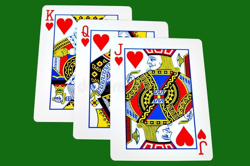 Rei, rainha e Jack dos corações fotografia de stock