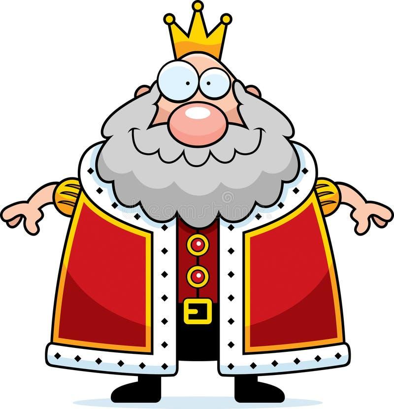 Rei Smiling dos desenhos animados ilustração royalty free