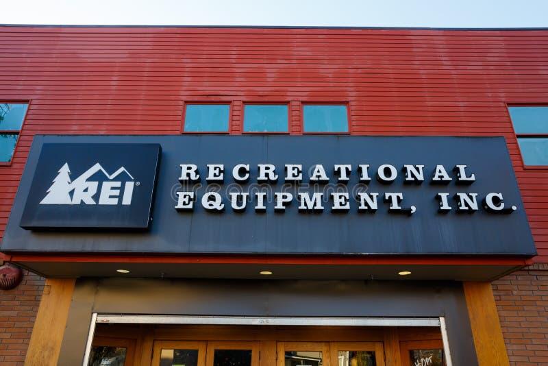 REI Storefront Eugene Oregon photo libre de droits