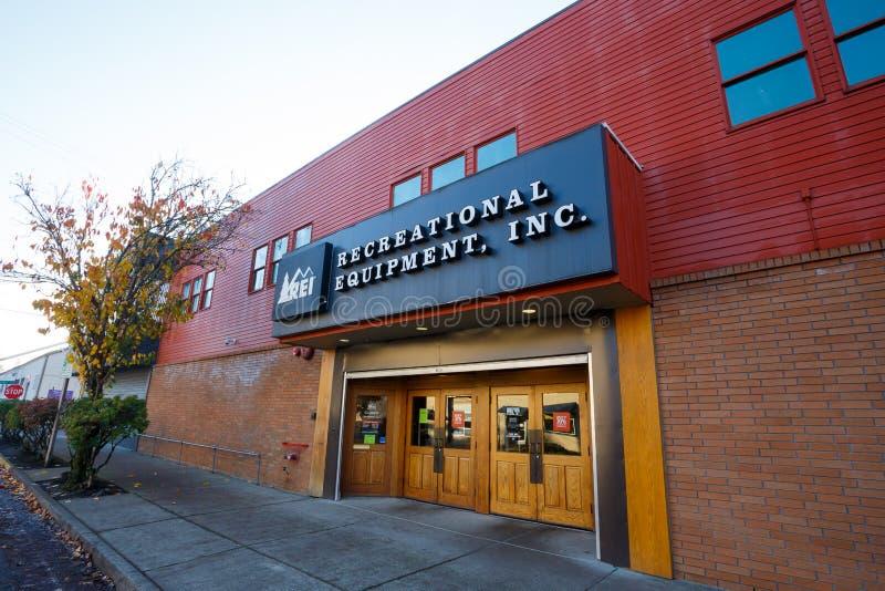 REI Storefront Eugene Oregon images libres de droits