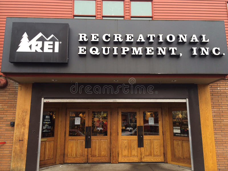 REI Storefront Eugene, OU images stock