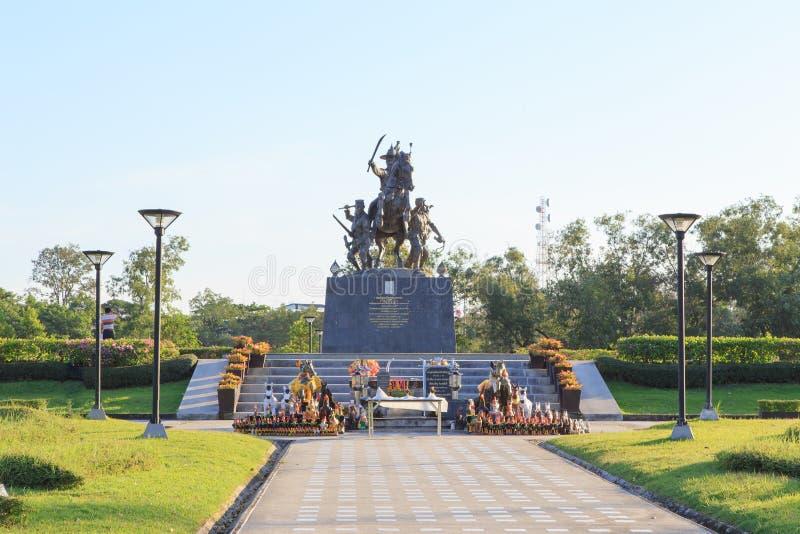 Rei Taksin Statue imagem de stock