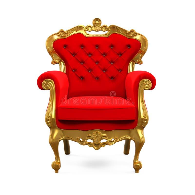 Rei Throne Chair ilustração royalty free