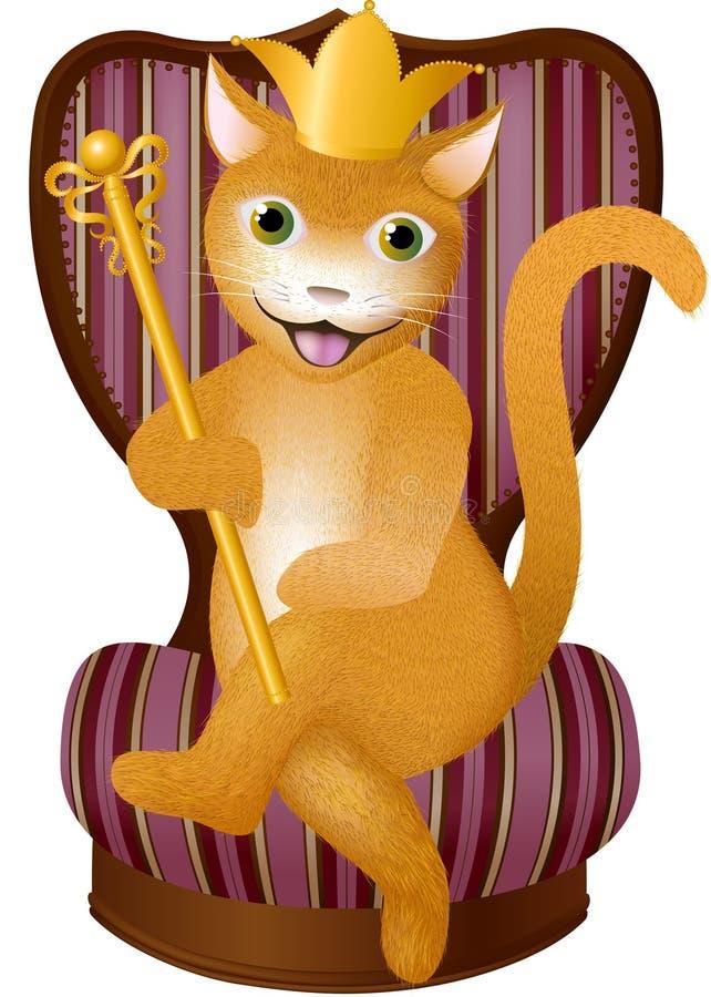 Rei vermelho Gato ilustração royalty free