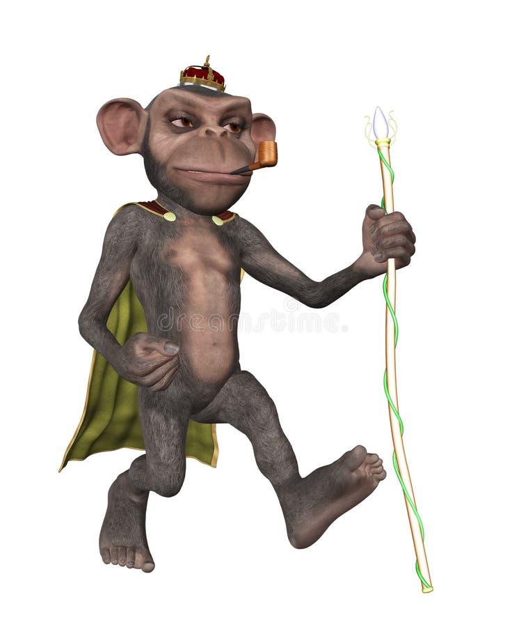 Rei Walking Illustration do macaco ilustração do vetor