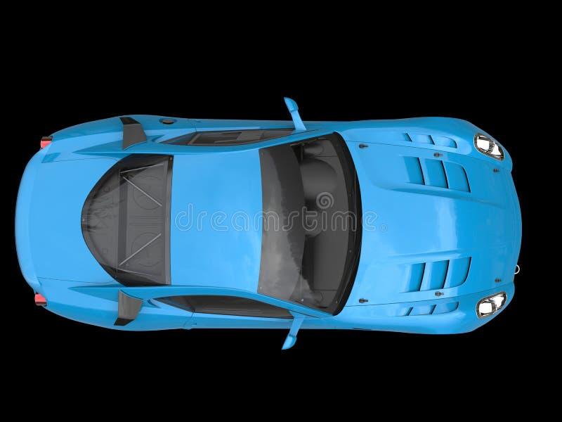 Reiche blaue städtische Sportautodachansicht lizenzfreies stockfoto