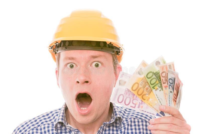 Reiche entsetzten Bauarbeiter stockbilder